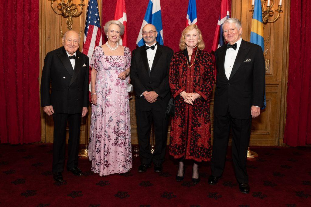 Ambassador Edward E. Elson, H.R.H. Princess Benedikte, Steven B. Peri, Liv Ullmann, Edward Gallagher